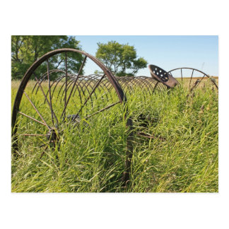 Dump Rake for Making Hay Postcard