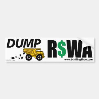 DUMP RSWA CAR BUMPER STICKER