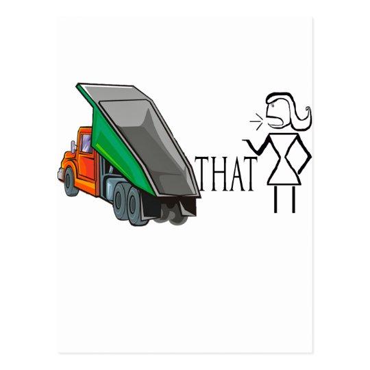 Dump That Bitch Funny Relationship Designs Postcard