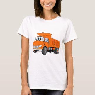 Dump Truck 2 Axle Orange Cartoon T-Shirt