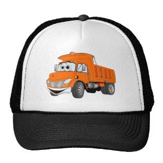 Dump Truck 2 Axle Orange Cartoon Trucker Hat