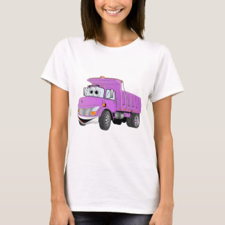 Dump Truck 2 Axle Purple Cartoon T-Shirt
