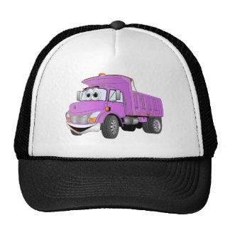 Dump Truck 2 Axle Purple Cartoon Trucker Hat