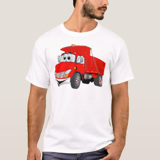 Dump Truck 2 Axle Red Cartoon T-Shirt