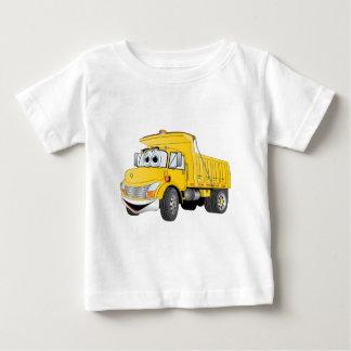 Dump Truck 2 Axle Yellow Cartoon Baby T-Shirt