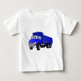 Dump Truck 3 Axle Blue Cartoon Baby T-Shirt