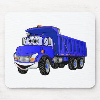 Dump Truck 3 Axle Blue Cartoon Mouse Pads