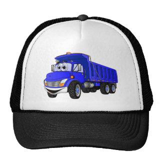 Dump Truck 3 Axle Blue Cartoon Trucker Hat