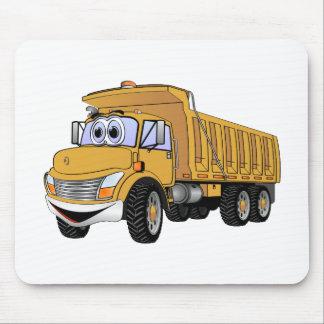 Dump Truck 3 Axle Gold Cartoon Mouse Pads