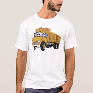 Dump Truck 3 Axle Gold Cartoon T-Shirt