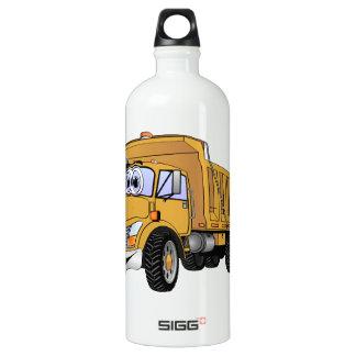 Dump Truck 3 Axle Gold Cartoon Water Bottle