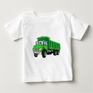 Dump Truck 3 Axle Green Cartoon Baby T-Shirt