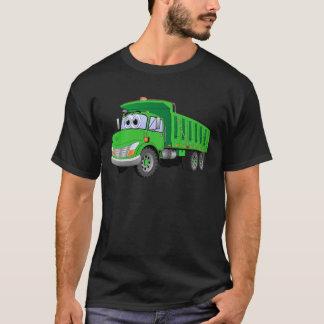 Dump Truck 3 Axle Green Cartoon T-Shirt