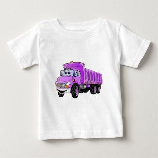 Dump Truck 3 Axle Purple Cartoon Baby T-Shirt