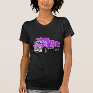 Dump Truck 3 Axle Purple Cartoon T-Shirt