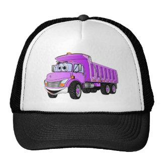 Dump Truck 3 Axle Purple Cartoon Trucker Hat
