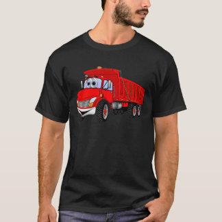 Dump Truck 3 Axle Red Cartoon T-Shirt