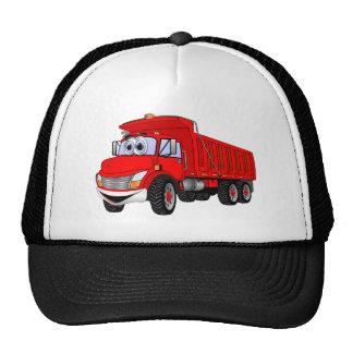 Dump Truck 3 Axle Red Cartoon Trucker Hat