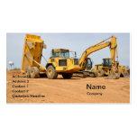 dump truck and backhoe business card
