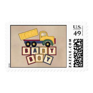 Dump Truck Baby Postage Stamp