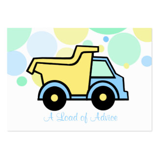 Dump Truck Baby Shower Advice Cards Business Cards