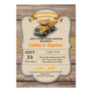 Vintage baby shower invitations zazzle dump truck baby shower invitation vintage retro invitation filmwisefo