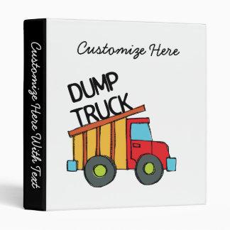 Dump Truck 3 Ring Binder