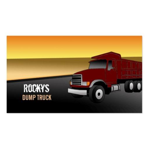 Dump truck business card templates bizcardstudio dump truck business cards colourmoves