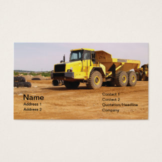 dump truck by dirt business card