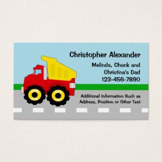 Dump Truck Calling Card