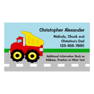 Dump Truck Calling Card Double-Sided Standard Business Cards (Pack Of 100)