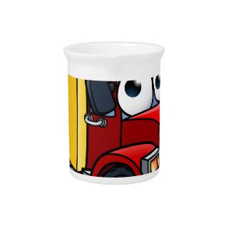 Dump Truck Cartoon Character Drink Pitcher