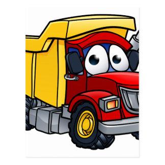 Dump Truck Cartoon Character Postcard
