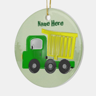 Dump Truck Christmas Ornament (personalize)