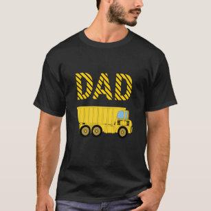 Dump Truck Construction Birthday Party Dad T Shirt