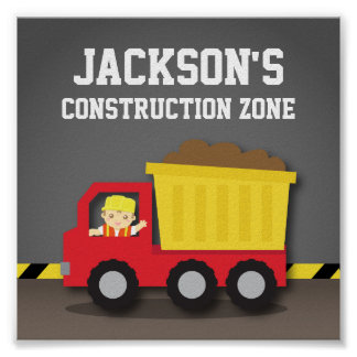 Dump Truck Construction Builder Boys Room Decor