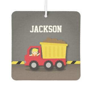 Dump Truck Construction Builder Boys Room Decor Car Air Freshener