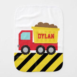 Dump Truck, Construction Vehicle for Baby Boy Burp Cloth
