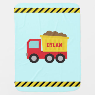 Dump Truck, Construction Vehicle for Baby Boy Baby Blanket