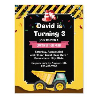 Dump Truck Cute Construction Party Birthday Card