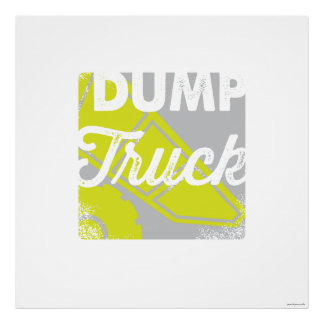 Dump Truck | Dump Truck Children's Art Print Print