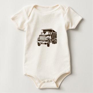 Dump Truck Infant One Piece Baby Romper Bodysuit
