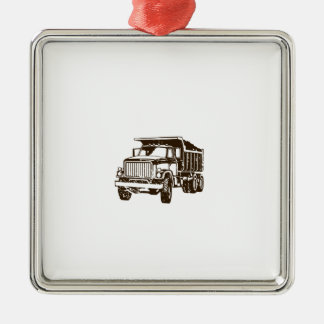 Dump Truck Metal Ornament