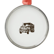 Dump Truck Metal Ornament