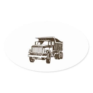 Dump Truck Oval Sticker