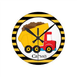 Dump Truck Personalized Clock