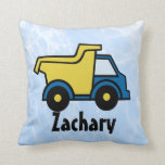 Dump Truck Personalized Throw Pillow