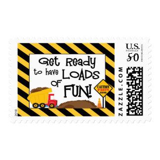Dump Truck Postage Stamp