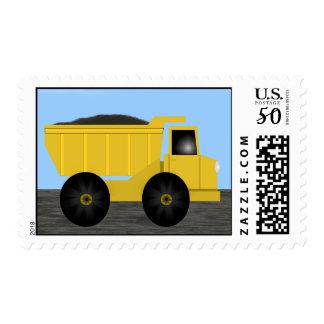 Dump Truck Postage Stamp by Heard_