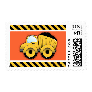 Dump Truck Postage Stamps, Construction Vehicle